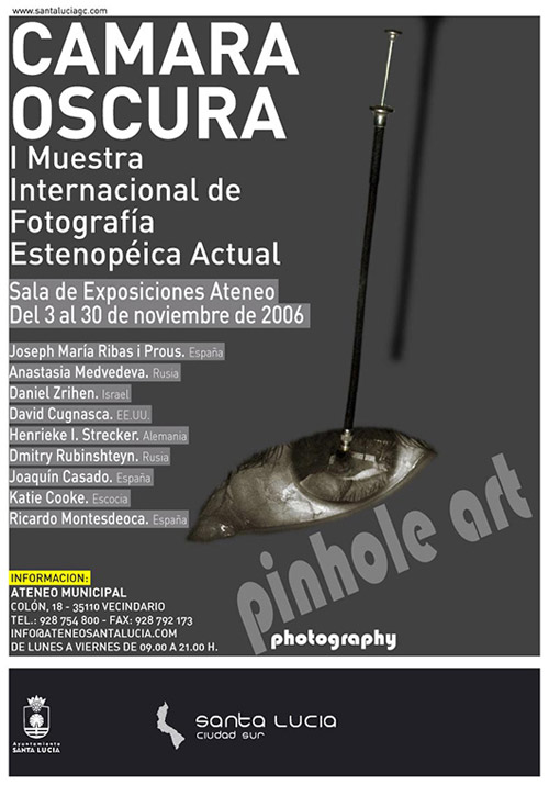 Camera Oscura pinhole photography show poster